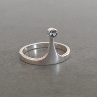Adventure Time Princess Bubblegum Crown Ring - Sterling Silver - Geeky Ring