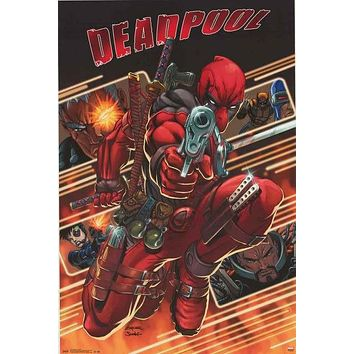 Deadpool Attack Marvel Comics Poster 22x34