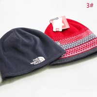 The North Face Women Men Autumn And Winter Fashion New Embroidery Letter Knit Keep Warm Hat Thick Cap
