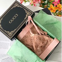 GUCCI Crystal GG tulle lingerie set