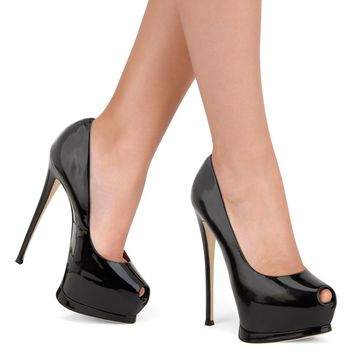 Peep Toe Platform Super High Stiletto Heel Sandals