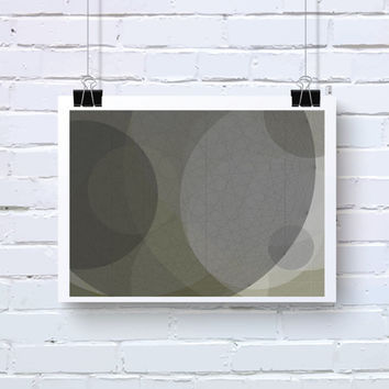 Abstract Generative Art based on Mathematics and Geometry. Mystic Rose 067_7aan. Taupe and grey. Office wall art. math inspired art
