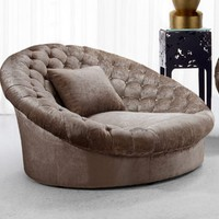 Elegant Upholstered Fabric Sofa Chair