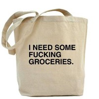 I need some fucking groceries bag.> What the fuck should I make for dinner store