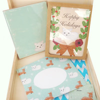 Holiday stationery letter writing gift box set