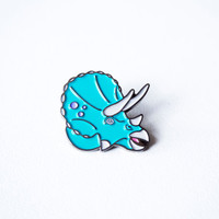 Triceratops dinosaur enamel pin. designosaur pin badge. soft enamel dinosaur pin. land before time lapel pin. Jurassic park brooch. button.