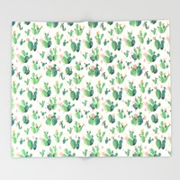 Cactus Drops Throw Blanket by Tasteful Tatters   Society6