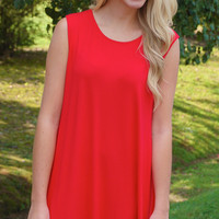 Game Day Bae Dress- Red