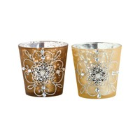 Gilded Lights Votives Chocolate,Gold