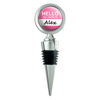 Alex Hello My Name Is Wine Bottle Stopper