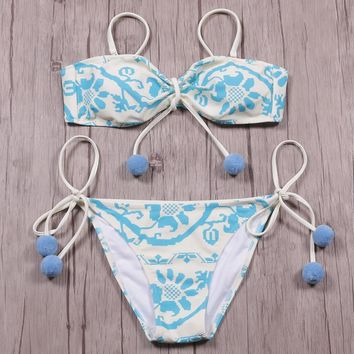 Swimsuit Summer Sexy Hot New Arrival Print Lovely Fashion Beach Swimwear Bikini [132686643220]