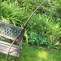 Cathal longbow, fantasy styled functional archery sculpture, custom carved wood bow.