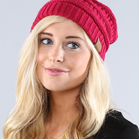 Coco and Main Fuchsia Knit Beanie | zulily