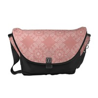 Dusty Pink Floral Pattern Courier Bag