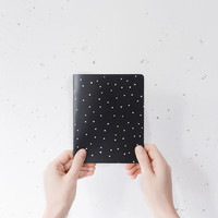 Handmade sketchbook with hipster pattern A5 - choose your color