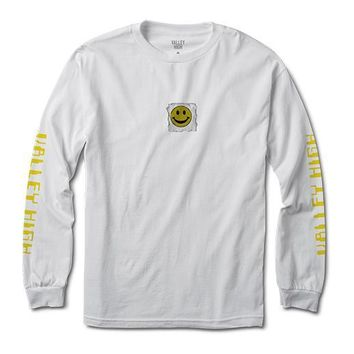 Smiley Tab Long Sleeve Tee