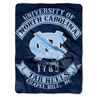 North Carolina UNC Tar Heels NCAA Rebel Series Raschel 60x80 Throw/Blanket