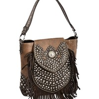 Montana West Trinity Ranch Bling & Fringe Tote - Sheplers
