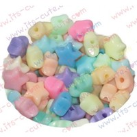 12mm Pastel Star Beads for Jewelry Making.