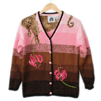 Cougar On My Shoulder Tacky Ugly Sweater by Storybook Knits