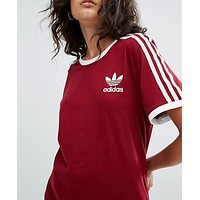 Trendsetter ADIDAS Women Casual Sport Running Tunic Shirt Top Blouse