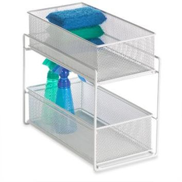 The Container Store > White 2-Drawer Mesh Organizer
