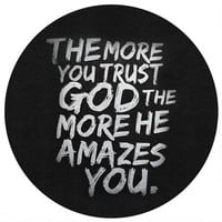 Sara Eshak's The More You Trust God Circle Decal