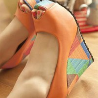 Summer Breeze Collection: Colourful Tribal Platform Shoes from nicktsang99