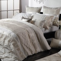 Sara Ivory Quilt Cover Set by Ultima - Just Bedding