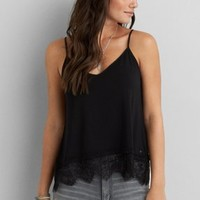 Don't Ask Why Keyhole Tank , Wine | American Eagle Outfitters