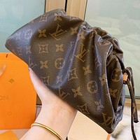 LV New fashion monogram leather shoulder bag women Coffee