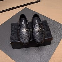 Armani Men's Leather Fashion Loafers Shoes