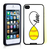 SudysAccessories Softball Love Softball Infinity Love Thinshell Case Protective iPhone 5 Case iPhone 5S Case
