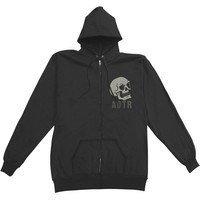 A Day To Remember Men's  Hourglass Zippered Hooded Sweatshirt Black