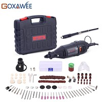 GOXAWEE 110V 220V Power Tools Electric Mini Drill with 0.3-3.2mm Universal Chuck & Shiled Rotary Tools Kit For Dremel 3000 4000