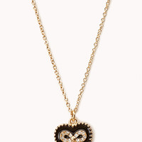 FOREVER 21 Sweetheart Bow Necklace