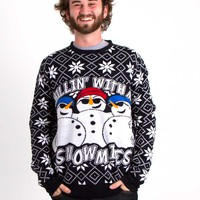 Unisex Chillin With My Snowmies Ugly Christmas Sweater W615572E