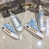 DIOR new home D letter high-top shoes casual shoes new lace-up low-top sneakers Shoes