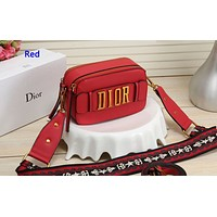 Wearwinds Dior fashion hot selling women's one-shoulder bag shopping bag Red