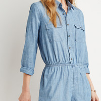 Collared Chambray Romper