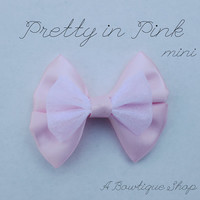 pretty in pink mini hair bow