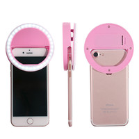 Portable Selfie Flash LED Ring Light Smartphone Camera Night Darkness Selfie Enhance Photography for iPhone Samsung Sony Huawei