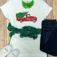 Vintage Holiday Christmas Truck