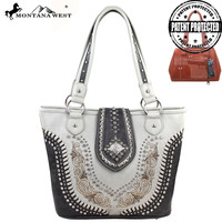 Montana West MW130G-8317 Concho Concealed Carry Handbag