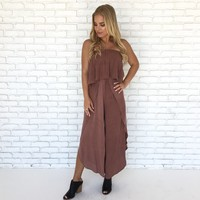 Bora Bora Jumpsuit in Deep Mauve