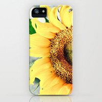 Sunflower's better half iPhone Case by Irène Sneddon