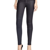 Black OrchidPayton Moto Coated Skinny Jeans in Equinox