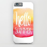 Hello Summer iPhone & iPod Case by Text Guy