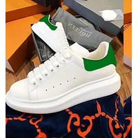 Onewel Alexander McQueen Classic Fashionable Women Men Casual Sports Running Shoes Sneakers Green Tail