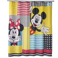 Disney's Mickey & Minnie Mouse Fabric Shower Curtain